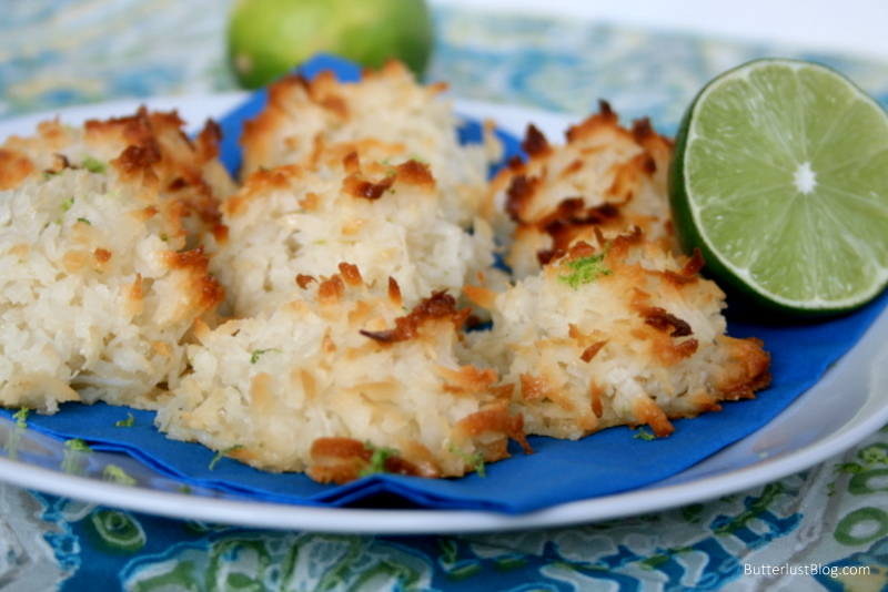 Coconut Lime Macaroons - Butterlust
