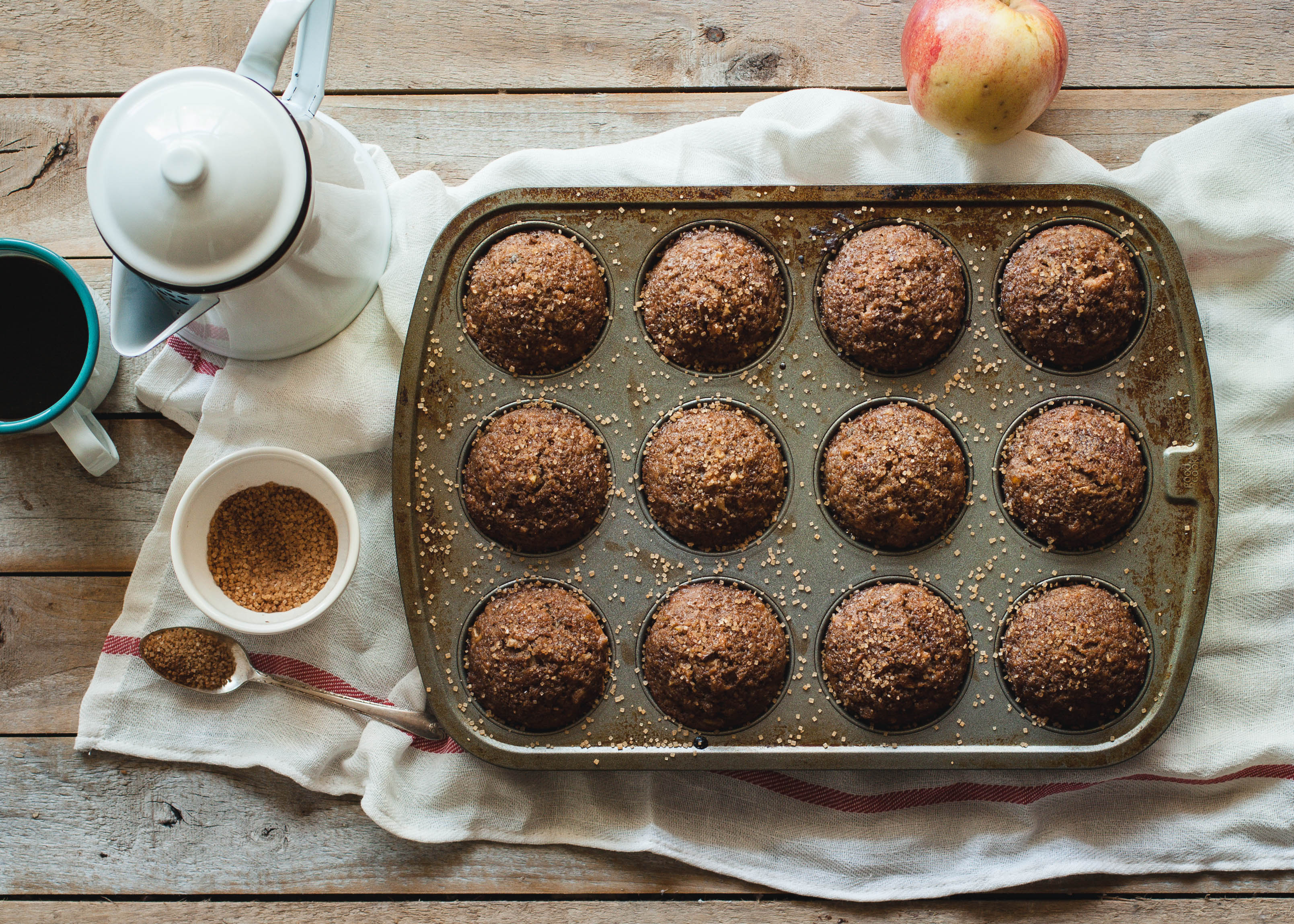 HEALTHY APPLE, MAPLE & PECAN MUFFINS
